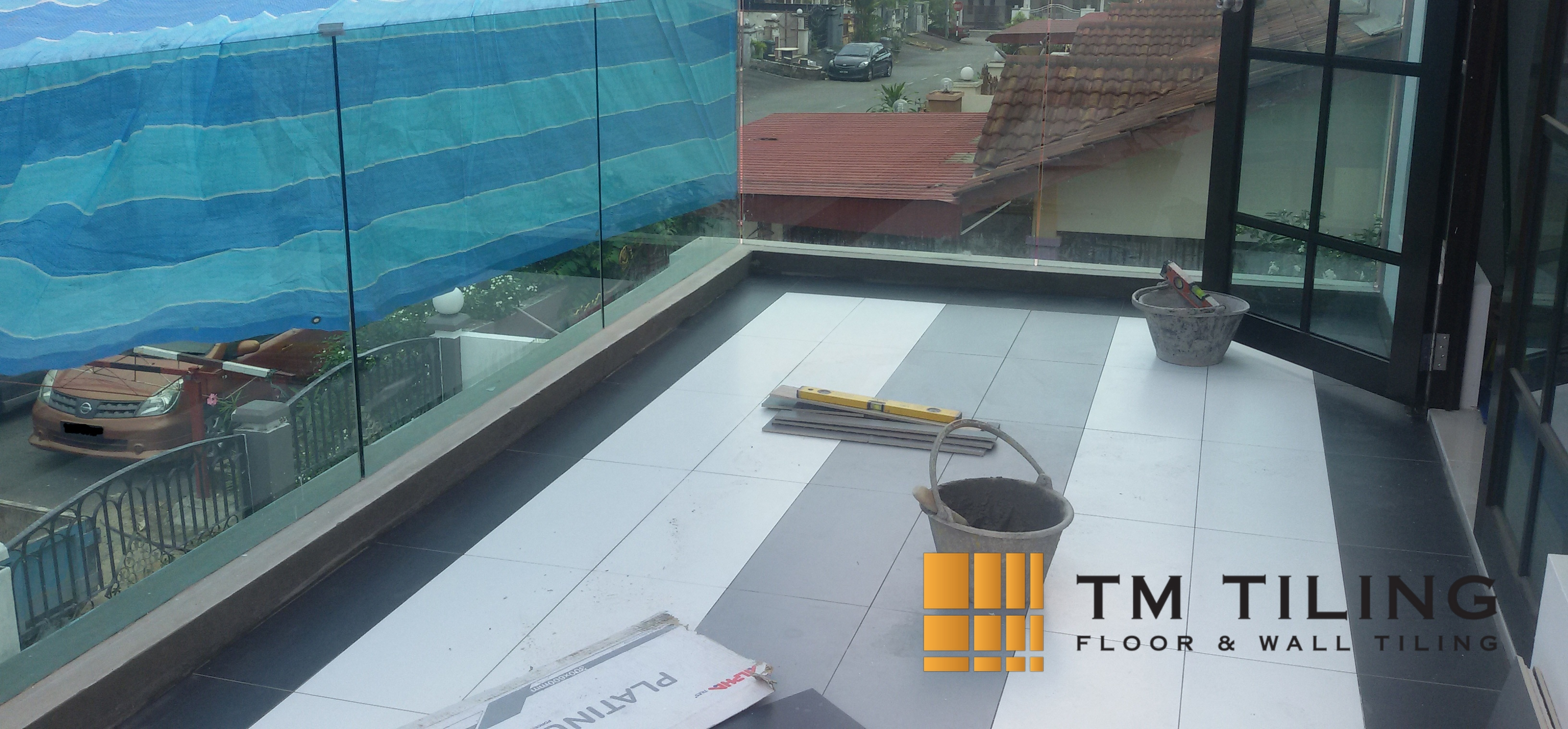 Balcony Tile Installation in Singapore Landed House – Bukit Timah ...