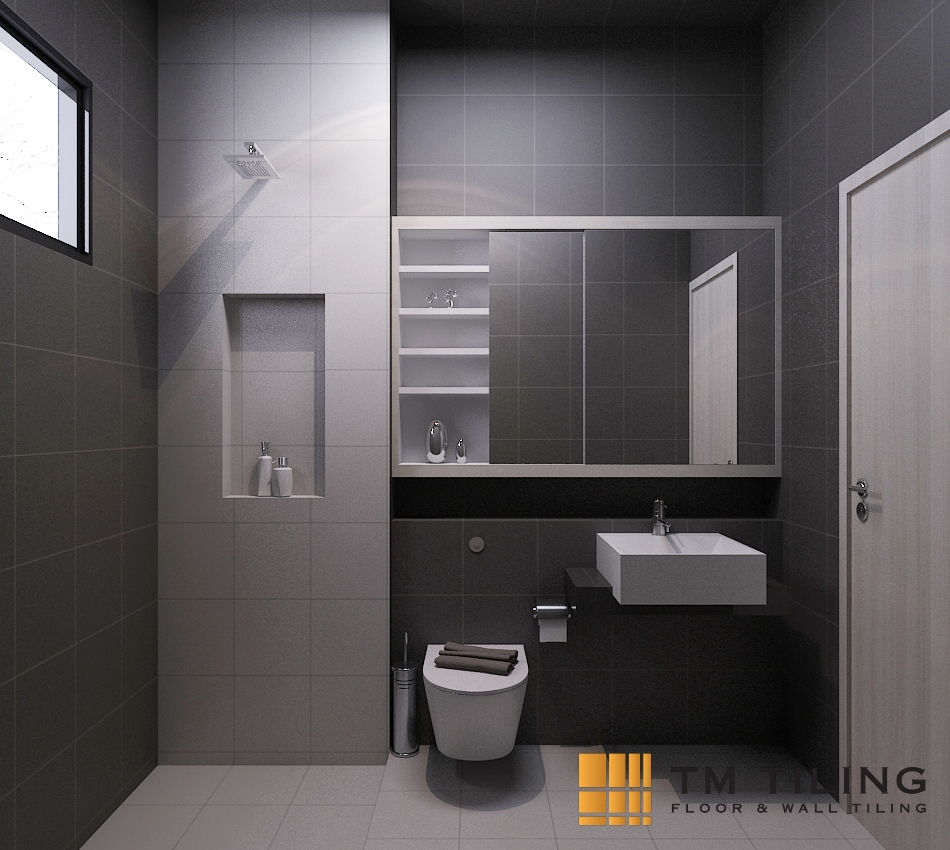 Ceramic Tile Bathroom Waterproofing in Singapore Condo - Ang Mo Kio ...