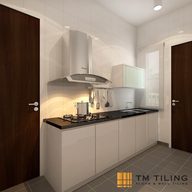 Kitchen Tile Work: Kitchen Tile Installation In Singapore Condo