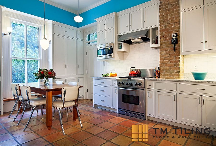 Terracotta kitchen tiles design tm tiling singapore